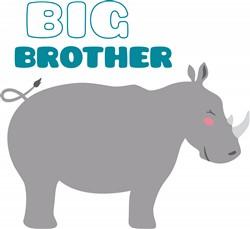 Big Brother Rhino Print Art