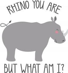 Rhino You Are Print Art