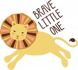 Brave Little Lion Print Art