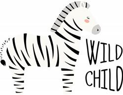 Wild Child Zebra Print Art