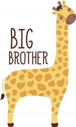 Big Brother Giraffe Print Art