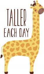 Taller Each Day Giraffe Print Art