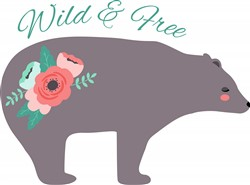 Wild & Free Bear Print Art