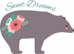 Sweet Dreams Bear Print Art