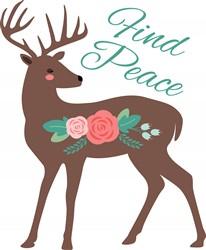 Find Peace Deer Print Art