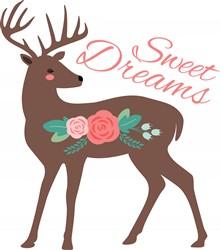 Sweet Dreams Deer Print Art