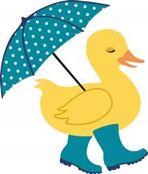 Rain Duck Print Art