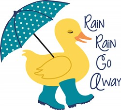 Rain Go Away Duck Print Art