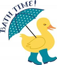 Bath Time Duck Print Art