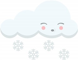 Snow Cloud Print Art