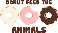 Donut Feed The Animals Print Art