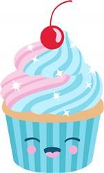 Smiling Cupcake Print Art