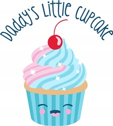 Daddys Little Cupcake Print Art