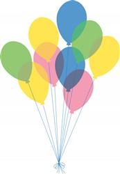 Birthday Balloons Print Art