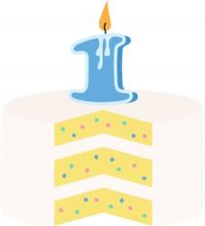 First Birthday Cake Print Art