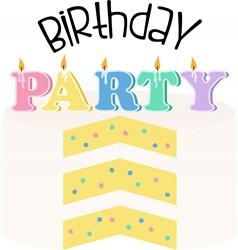 Birthday Party Cake Print Art