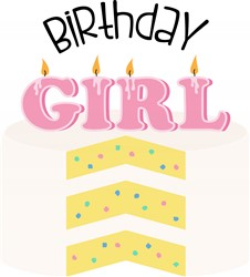Birthday Girl Cake Print Art