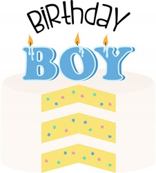 Birthday Boy Cake Print Art