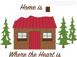 Log Cabin Home Print Art