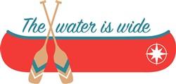 Wide Water Canoe Print Art