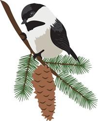 Chickadee In Tree Print Art
