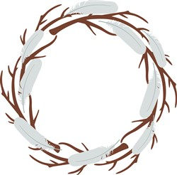 Feather Wreath Print Art