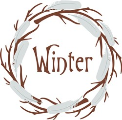 Winter Wreath Print Art
