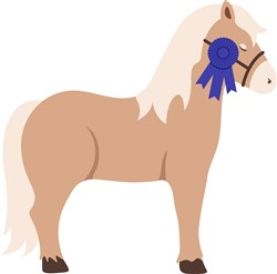 Blue Ribbon Pony Print Art