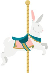 Carousel Rabbit Print Art