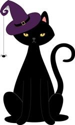 Black Cat Print Art