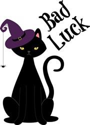 Bad Luck Cat Print Art