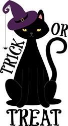 Trick Or Treat Cat Print Art