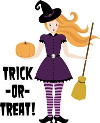 Trick Or Treat Witch Print Art