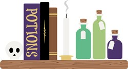 Potion Books Print Art