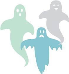 Halloween Ghosts Print Art