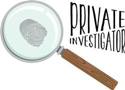Private Investigator Print Art