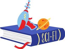 Sci-Fi Book Print Art