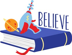 Believe Book Print Art