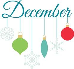 December Ornaments Print Art