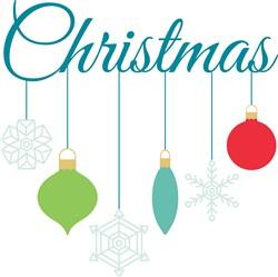 Christmas Ornamnets Print Art