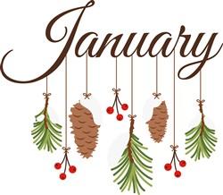 January Branches Print Art