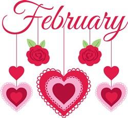 February Hearts Print Art