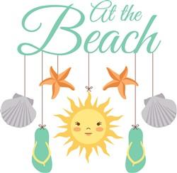 At The Beach Print Art