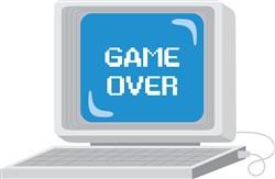 Computer Game Over Print Art