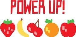 Power Up Fruit Print Art