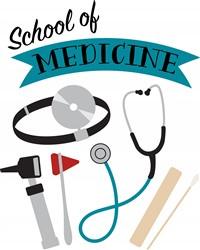School Of Medicine Print Art