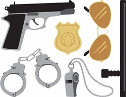 Police Equipment Print Art