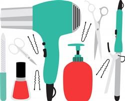 Cosmetology Tools Print Art