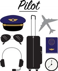 Airline Pilot Print Art