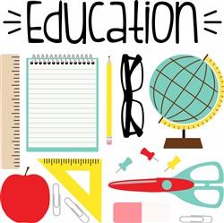 Education Supplies Print Art